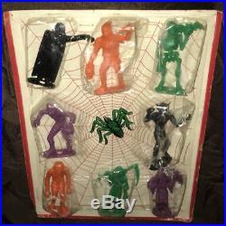 Vintage 1964 MPC Monster Toy Figures Complete Sealed Set Horror Halloween