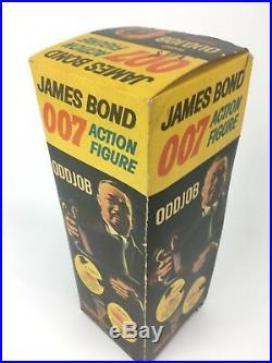 Vintage 1965 Ac Gilbert James Bond 007 Goldfinger Odd Job Action Figure & Box