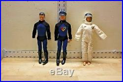 Vintage 1966 Captain Action Doll Figures Ideal Toy Corp Lot Of Three