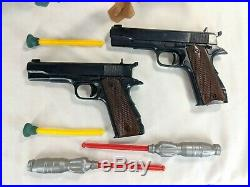Vintage 1966 Marx The Man from U. N. C. L. E. MGM 12 Figures and Plastic Dart Guns