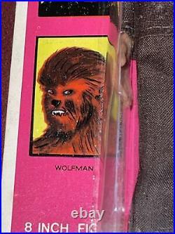 Vintage 1970's AHI Azrak Hamway 8 Wolfman Figure on Card Grail Rare Antique Toy