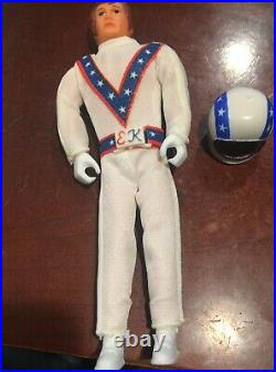 Vintage 1972 Ideal EVEL KNIEVEL 7 Figure with Helmet & Suit Evil NEW in bag