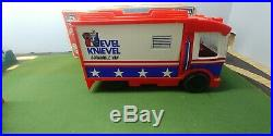 Vintage 1973 Ideal Evel Knievel Scramble Van And Cycle/Figure Complete