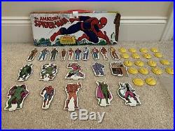 Vintage 1973 Ideal Mego The Amazing Spiderman Play Set Toy Figures Complete