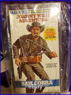 Vintage 1975 Marx Johnny West Adventures Sam Cobra Quick Draw Action Figure