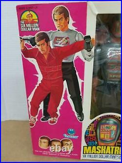 Vintage 1976 Kenner Six Million Dollar Man Maskatron Enemy Figure NIB Sealed B1