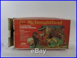 Vintage 1976 McDonald's MCDONALDLAND PLAYSET ALL 7 FIGURES with Box REMCO