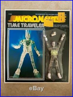 Vintage 1976 Mego Micronauts Time Traveler Clear 3 3/4 Action Figure 1970's Toy