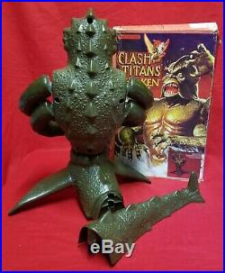 Vintage 1980 Mattel Clash of the Titans Kraken Sea Monster Toy Figure with Box