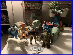 Vintage 1980's ThunderCats Action Figure LJN Toy Lot Thundertank Lion-O Case