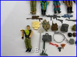 Vintage 1980s G. I. Joe Toy- LOT of 16 Figures- With, Parts, Guns & Accessories