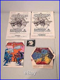 Vintage 1985 Coleco Sectaurs Warriors of Symbion Action Figure Weapons Toy Lot +