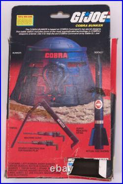 Vintage 1985 Gi Joe Figure Hasbro Gi Joe Cobra Bunker BOX Guns Toy Rare Show