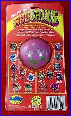 Vintage 1986 MADBALLS Series 2 SWINE SUCKER toy ball head figure MOC popping