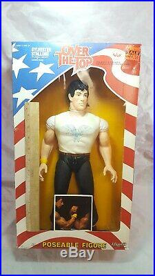 Vintage 1986 OVER THE TOP Sylvester Stallone Figure Toy 16 LINCOLN HAWKS MIB