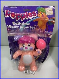 Vintage 1986 Popples Water Squirter Arco Toy Doll 8action Figure Mattel Bath(2)