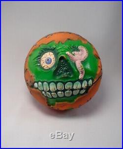 Vintage 1986 Super MADBALLS toy popping head figure FOUL SHOT BASKETBALL ZOMBIE