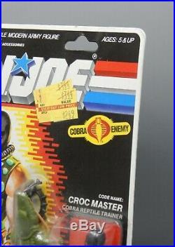 Vintage 1987 Hasbro GI Joe CROC MASTER action figure MOC sealed Crocmaster toy