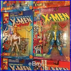 Vintage 1990s X-Men Action Figure Toy Lot of 16 Marvel Comics by Toy Biz XMen