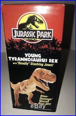 Vintage 1993 Jurassic Park Young T-Rex Dinosaur Figure Toy NIB MINT IN BOX