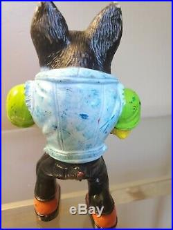 Vintage 1996 Muscle Mutts Street Wise Designs Sugar Tooth Figure Toy Dog RARE