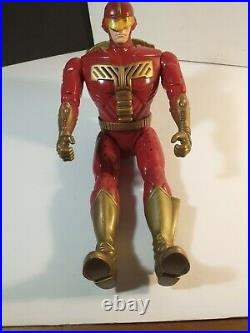 Vintage 1996 Turbo Man Jingle All The Way Action Figure Toy 13.5 WORKS loose