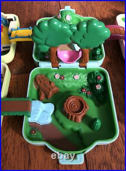 Vintage 1997 Tomy Nintendo Pokemon Polly Pocket Play toy Lot Of 3 With Figures