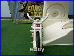 Vintage 1st edition Evel Knievel figure with 2nd edition chrome bike. Very rare
