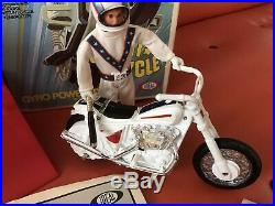 Vintage 2nd Ed. Evel Knievel 1973 Action Figure Stunt Cycle Launcher Set withbox