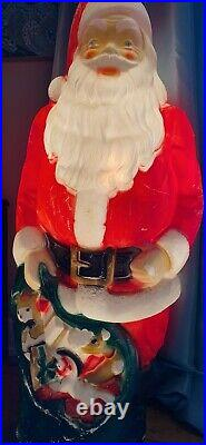 Vintage 48 EMPIRE LIGHT UP BLOW MOLD OUTDOOR SANTA CHRISTMAS-WORKS-Outdoor Toy