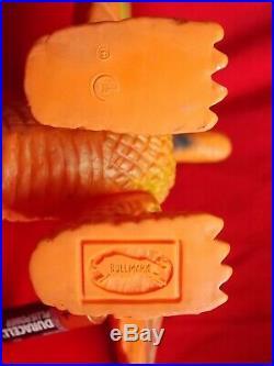 Vintage 70's KING GHIDORAH BULLMARK Sofubi PVC Figure Height 9.5 24cm TOY UK