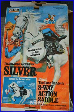 Vintage 70's Lone Ranger's Horse SILVER Action Figure NEW in Box Gabriel 27625