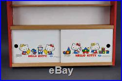 Vintage 80s Sanrio Hello Kitty Wall Display Cabinet Collectible Figure Toy Shelf