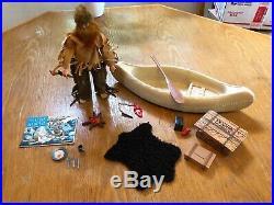 Vintage Action Figure Lot Gabriel Lone Ranger Solitary Trapper Canoe Complete