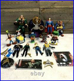 Vintage Action Figure Toy Lot of (23) Star Wars Ghostbusters Superman 80s 90s