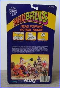 Vintage Amtoy Madballs Head Popping Action Figure Toy Oculus Orbus 1986 New MOC