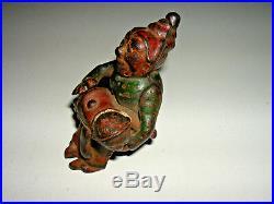 Vintage Antique Cast Iron Toy Mama Katzenjammer Kenton Baby Mammy Figure