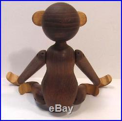 Vintage Authentic MCM Kay Bojesen Denmark Teak & Limba Wood Toy Monkey Figure
