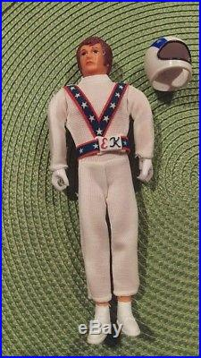 Vintage BRAND NEW Evel Knievel Action Figure Toy with Helmet