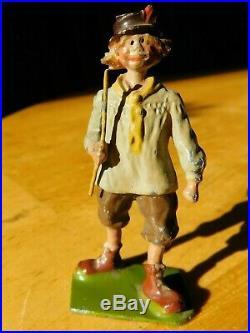Vintage Britains Farm series Village Idiot #587 lead Figures toy RARE