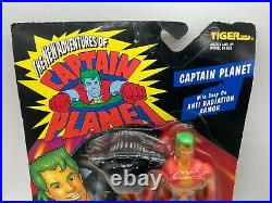 Vintage Captain Planet Anti Radiation Armor Action Figure Toy MOC 1994 Tiger