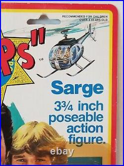 Vintage Chips Mego Corp Action Figure Sarge NIP 1977 toy