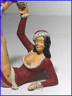 Vintage Christmas Lead Toy Figure Stripper Miniature Rare