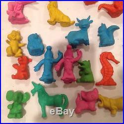 Vintage Diener Rubber Eraser Toy Figures 60s-70s Lot Of 29