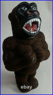 Vintage Early King Kong Figure withFlocked Fur Bubble Bath Bottle Container. Soaky