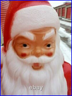 Vintage Empire 46 Blow Mold Giant Santa Green Toy Sack Christmas Lighted AA