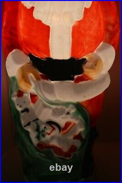 Vintage Empire 47 Santa Claus Christmas Lighted Blow Mold Toy Sack Lawn Decor