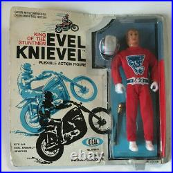 Vintage Evel Knievel Racing Figure Ideal Motorcycle Daredevil Moc New