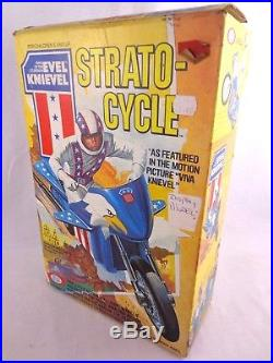 Vintage Evel Knievel Strato-Cycle Action Figure Vehicle Ideal Boxed Sealed 1970s