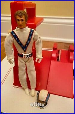 Vintage Evel Knievel Stunt Cycle 1973 2nd Edition Chrome Ideal Action Figure